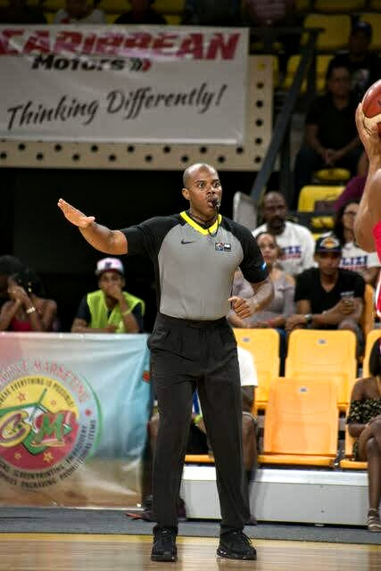 FIBA basketball official Nate Saunders.