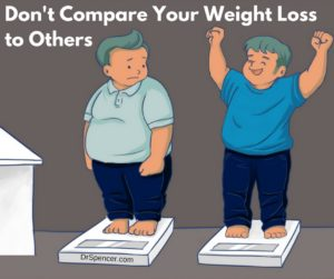 For the same reason you shouldn't compare weight lose with others, you shouldn't compare your performance improvements with others