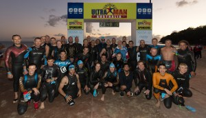 Ultraman Australia 2016: Competitors on the Start line (Humps is middle row on the right)
