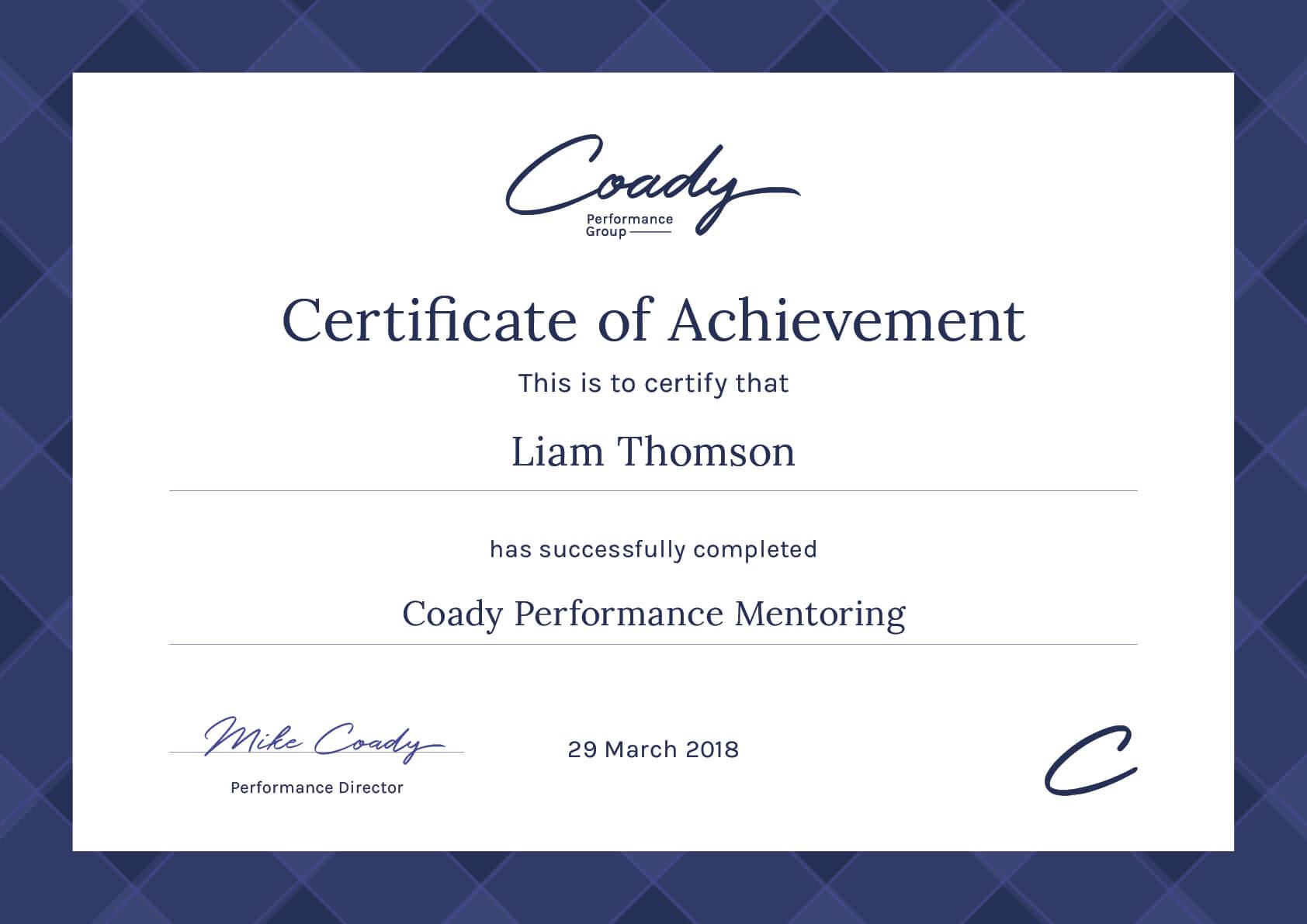 Coady Certificate