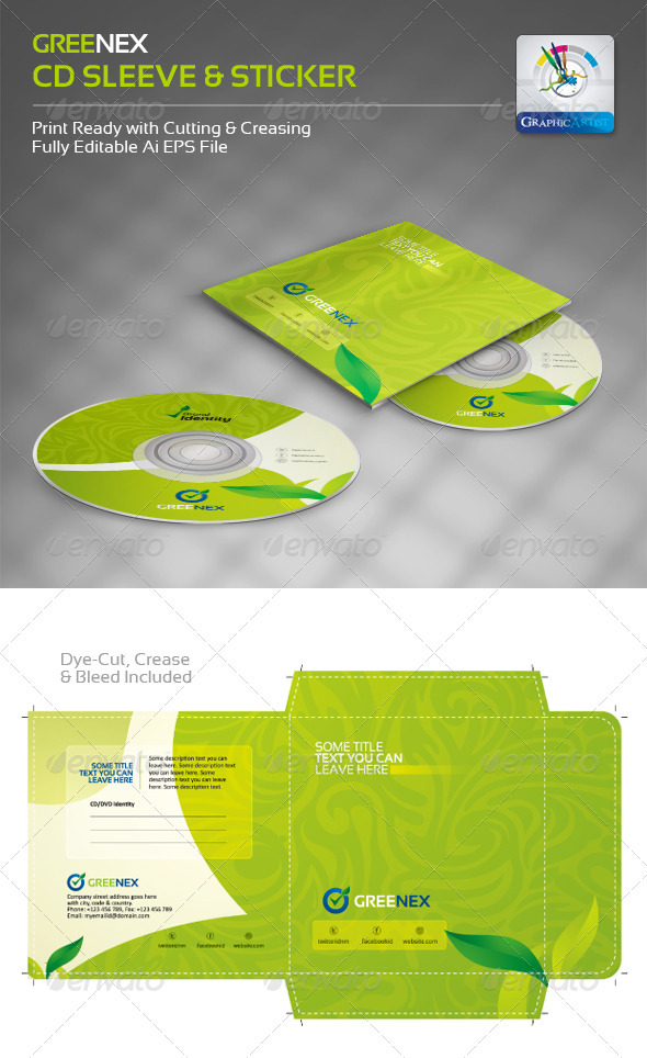 15 Creative CD and DVD Sleeve and Sticker Template Designs