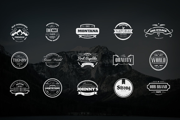 Vast Collection of Vintage Logo Templates