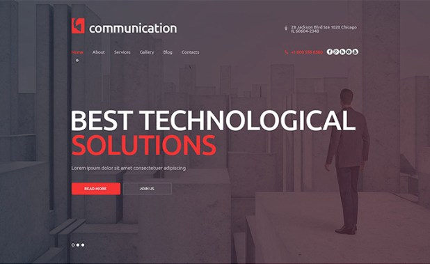 Communications WordPress Theme