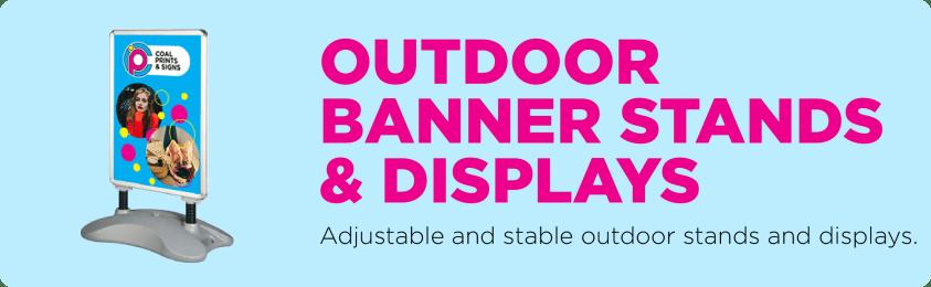 Outdoor Banner Stands & Displays
