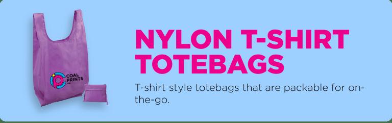 Nylon T-Shirt Totebags