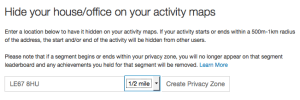 Strava Privacy Settings