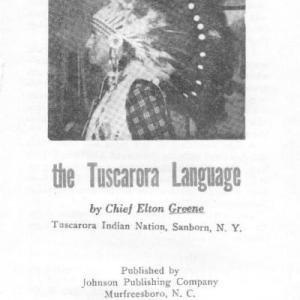 Chief Elton Greene's Tuscarora Dictionary