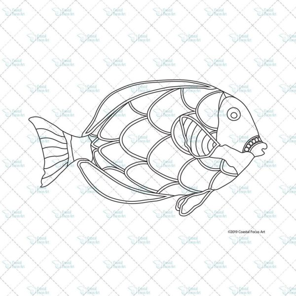 tropical fish coloring pages # 12
