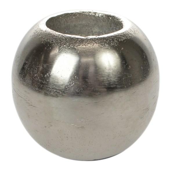 Antique Silver Ball Tealight Holder