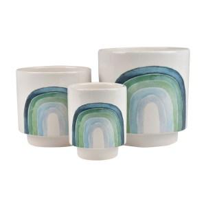 Rainbow Ceramic Planter
