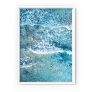 Waves and Surfers Print