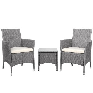 Outdoor Chair and Table Set Grey