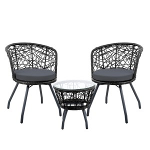Black Outdoor Patio Chair and Table