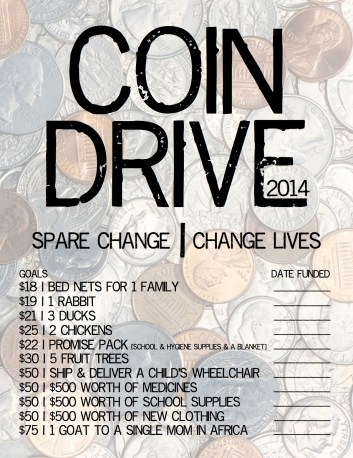 Coin Drive Flyer