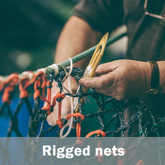 Ready rigged fishing nets