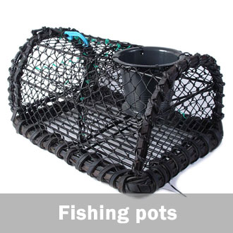 Ready-made fishing pots, crab pots, lobster pots