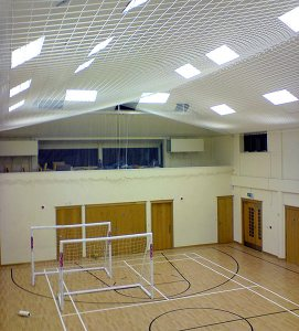 sports hall protective net