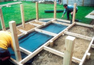 under-decking weed control fabric
