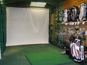 Indoor golf simulator net