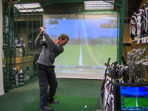 Indoor golf simulator net