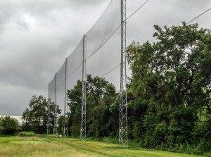 golf course net fence