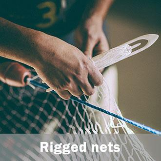 rigged fishing nets