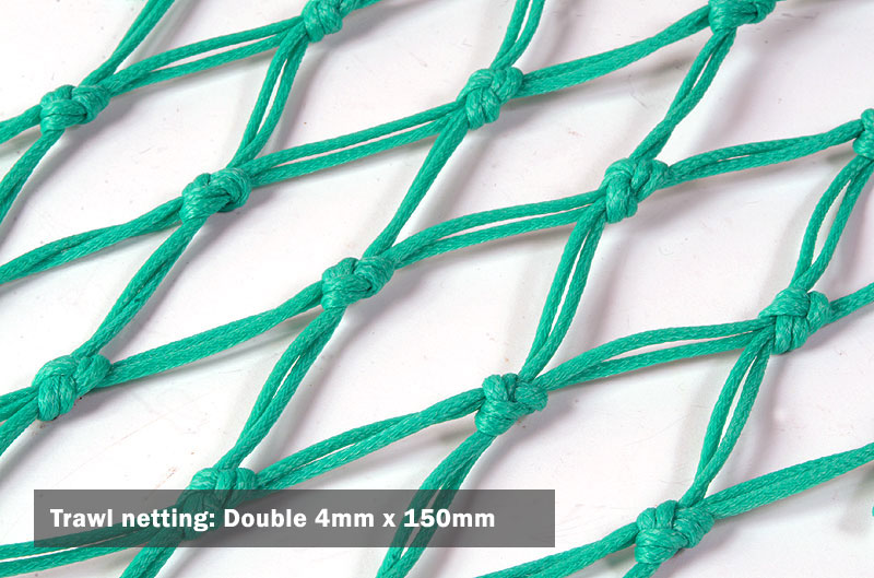 Trawl netting: Double 4mm x 150mm