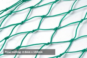 Trawl netting: 2.5mm x 150mm