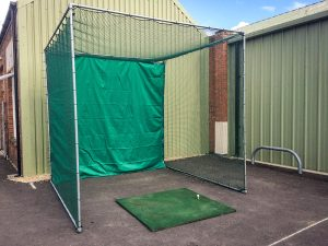 Self assembly golf practice net kit