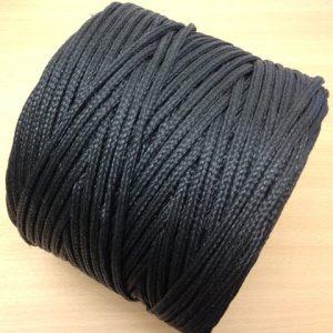 5mm Polyethylene Braided Twine Black