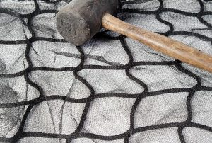 Safety netting with debris mesh