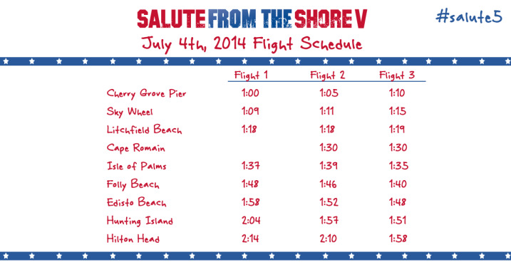 Salute from the Shore Schedule