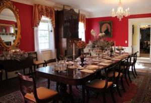 Kaminski House dining room Christmas