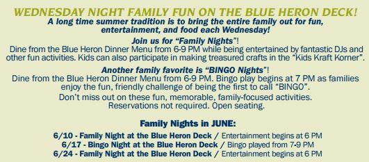 wed night fun at blue heron