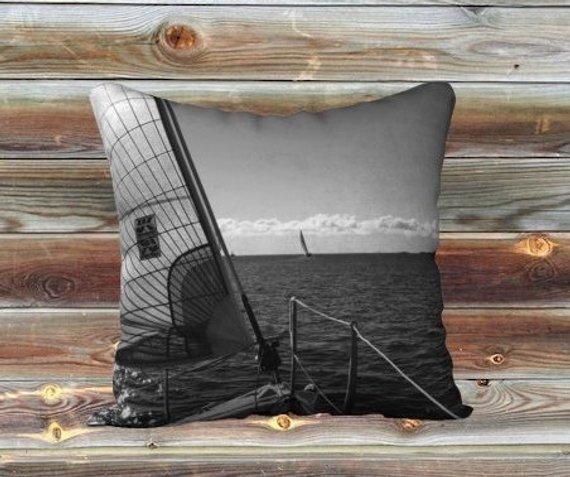 boat pillow, nautical