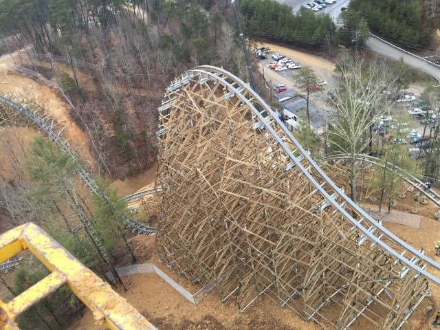 Lightning Rod Review Dollywood Launched Wooden Coaster