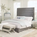 Camille Eastern King Button Tufted Bed Grey Coaster Fine Furniture