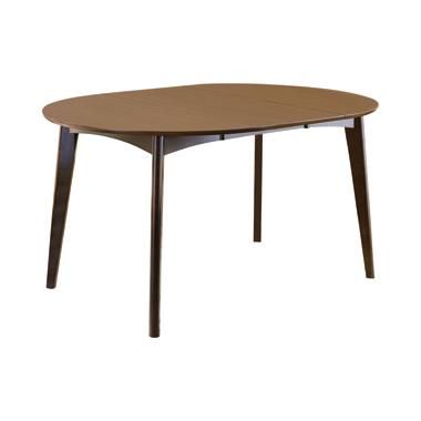 malone rectangular dining table dark