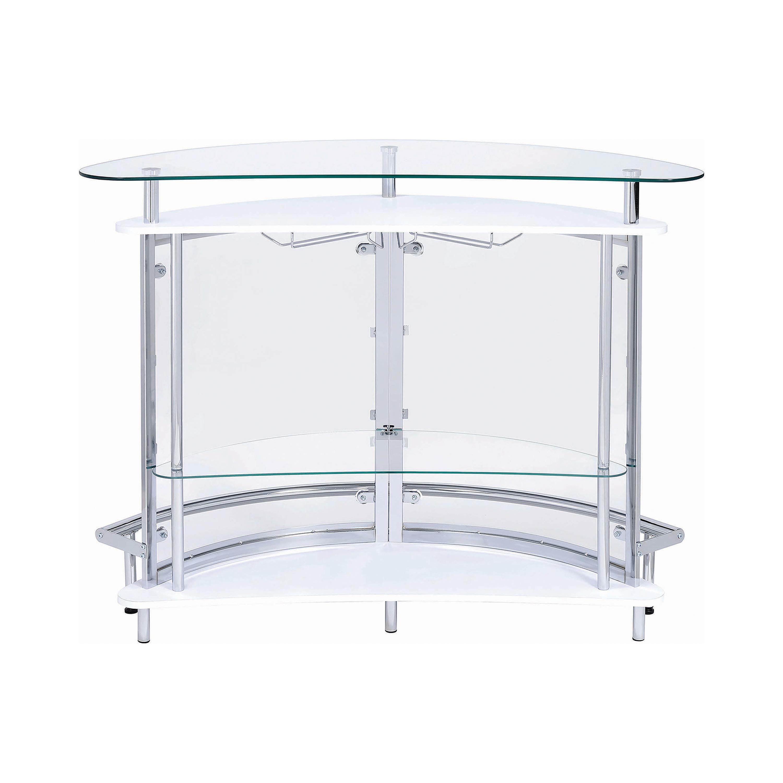 2 tier bar unit white and chrome