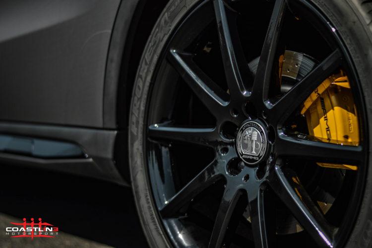 Mercedes Benz w/ Custom Yellow Brake Caliper Service