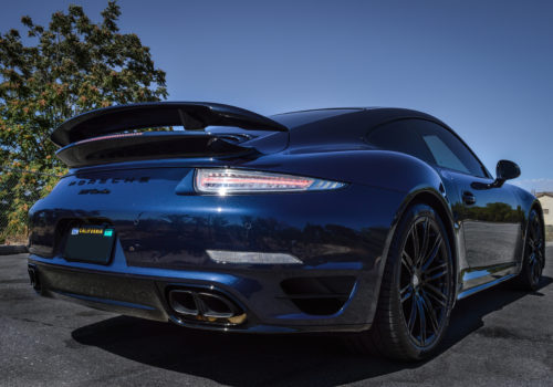 Porsche 911 Turbo w/ Clear Tail Light and Custom Clear Corner Markers