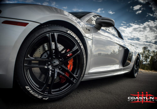 Audi R8 w/ Custom Red Caliper Paint Service
