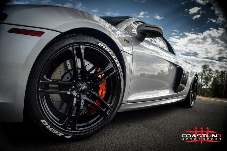 Audi R8 w/ Custom Red Caliper Paint Service
