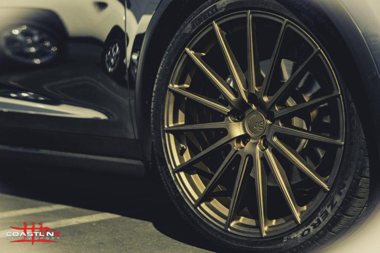 Tesla Model X w/ Avant Garde Wheels Powdercoated Bronze