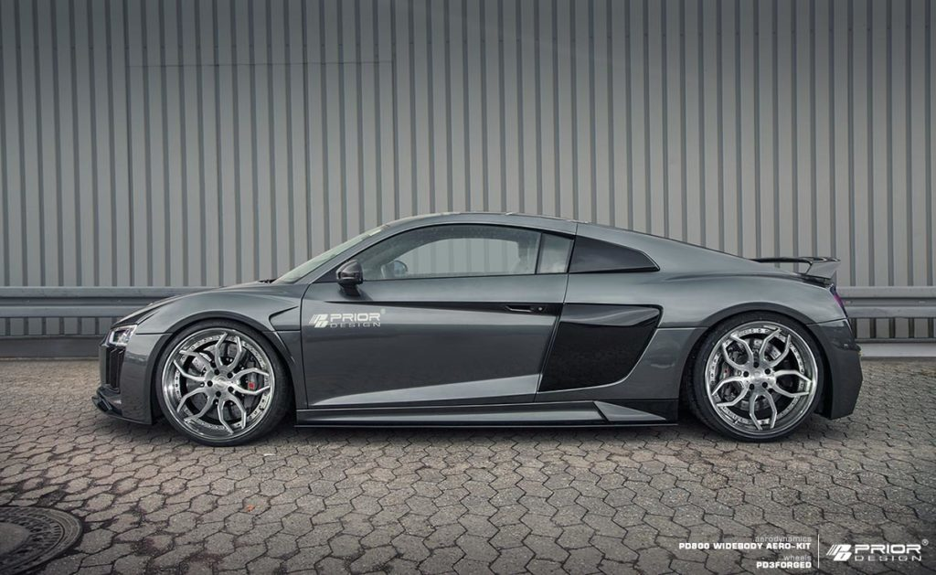 Audi R8 4S PD800WB Aero-kit Side View