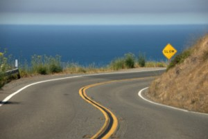 Highway 1 Traffic Slowdown @ Half Moon Bay   California   United States
