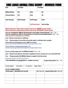SMC LAEG Member Form 2016