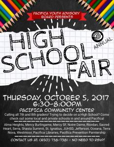 Pacifica High School Fair ~ Calling all 7th and 8th graders @ Pacifica Community Center   Pacifica   California   United States