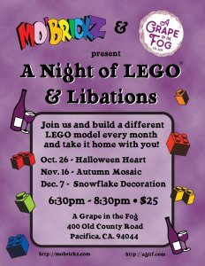 LEGOs and Libations at Grape in the Fog @ A Grape In The Fog | Pacifica | California | United States