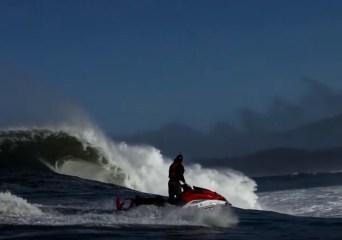Jet ski by Mavericks wave